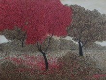 Tree 1 | Painting by artist Shuvankar Maitra | acrylic | Canvas