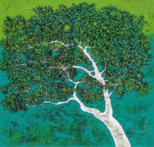 Treescape 76 | Painting by artist Bhaskar Rao | acrylic | Canvas