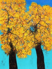Nature Acrylic Art Painting title Treescape 106 by artist Bhaskar Rao