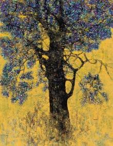 Nature Acrylic Art Painting title 'Treescape 107' by artist Bhaskar Rao