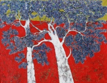 Treescape 3 | Painting by artist Bhaskar Rao | acrylic | Canvas
