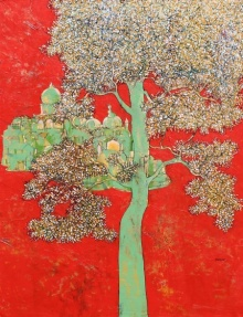 Treescape 4 | Painting by artist Bhaskar Rao | acrylic | Canvas