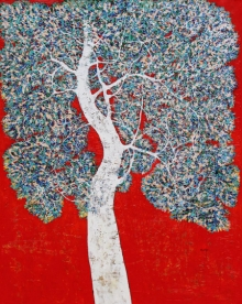 Nature Acrylic Art Painting title Treescape 98 by artist Bhaskar Rao