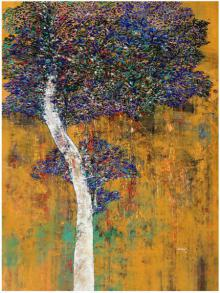 Treescape III | Painting by artist Bhaskar Rao | acrylic | Canvas