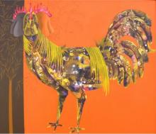 The Beautiful Hen | Painting by artist Abhiram Bairu | acrylic | Canvas