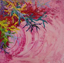 Abstract Acrylic Art Painting title 'Armonia ' by artist Francesca Monico
