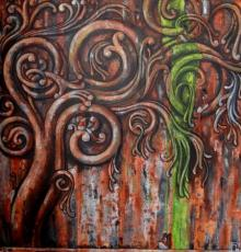 Suruchi Jamkar | Acrylic Painting title Ancient Design Ii on Canvas | Artist Suruchi Jamkar Gallery | ArtZolo.com