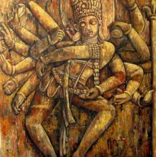 Suruchi Jamkar | Acrylic Painting title Dance Of Creation on Canvas | Artist Suruchi Jamkar Gallery | ArtZolo.com