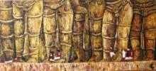Suruchi Jamkar | Acrylic Painting title The Grand Welcome on Canvas | Artist Suruchi Jamkar Gallery | ArtZolo.com