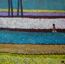 Suruchi Jamkar | Acrylic Painting title In Solitude I on Canvas | Artist Suruchi Jamkar Gallery | ArtZolo.com