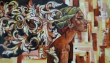 Suruchi Jamkar | Acrylic Painting title Beauty Is In The Mind on Canvas | Artist Suruchi Jamkar Gallery | ArtZolo.com