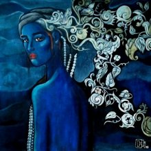 Suruchi Jamkar | Acrylic Painting title Designs Of A Beautiful Mind on Canvas | Artist Suruchi Jamkar Gallery | ArtZolo.com