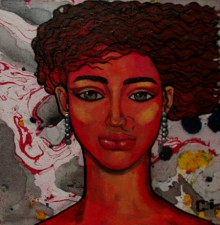 Suruchi Jamkar | Oil Painting title Girl In The Wind on Canvas | Artist Suruchi Jamkar Gallery | ArtZolo.com