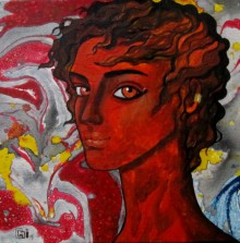 Suruchi Jamkar | Oil Painting title Passionate thoughts on Canvas | Artist Suruchi Jamkar Gallery | ArtZolo.com