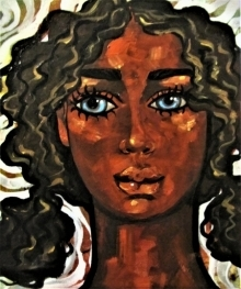 Suruchi Jamkar | Acrylic-oil Painting title Girl in the wind I on Canvas | Artist Suruchi Jamkar Gallery | ArtZolo.com