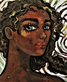 Suruchi Jamkar | Acrylic-oil Painting title Girl in the wind IV on Canvas | Artist Suruchi Jamkar Gallery | ArtZolo.com