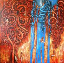 Suruchi Jamkar | Oil Painting title Intricacies Of Life on Canvas | Artist Suruchi Jamkar Gallery | ArtZolo.com