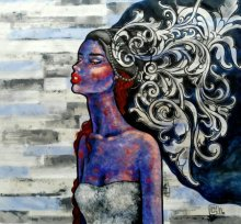 Suruchi Jamkar | Acrylic Painting title The Thinker on Canvas | Artist Suruchi Jamkar Gallery | ArtZolo.com
