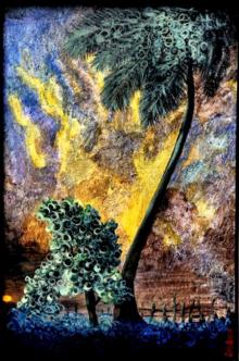 Landscape Acrylic Art Painting title 'Landscape I' by artist DEVIRANI DASGUPTA
