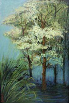 DEVIRANI DASGUPTA Paintings | Acrylic Painting - Landscape II by artist DEVIRANI DASGUPTA | ArtZolo.com