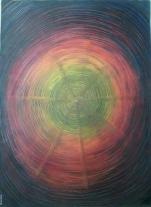 Abstract Mixed-media Art Painting title Way To Eternity by artist Devirani Dasgupta