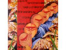 Figurative Acrylic Art Painting title 'Banaras ' by artist Deepali Mundra