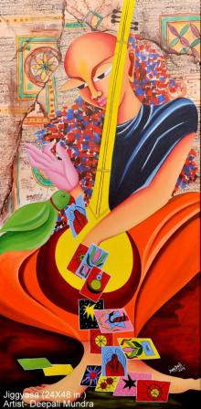 Jiggyasa | Painting by artist Deepali Mundra | acrylic | Canvas