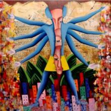 Me Or Samaya Chakra | Painting by artist Deepali Mundra | acrylic | Canvas