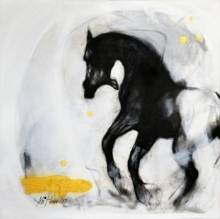 art, painting, acrylic, canvas, animal, horse