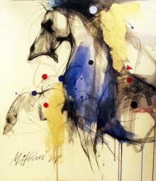 Animals Mixed-media Art Painting title 'Horse I' by artist Mithun Dutta