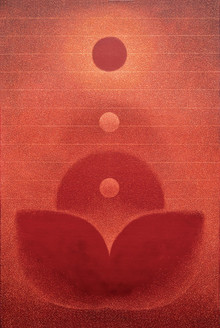 Motivational Oil Art Painting title Transcend by artist Hanumanth Devulapalli