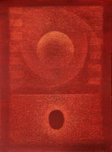 Abstract Oil Art Painting title 'Untitled 2' by artist Hanumanth Devulapalli