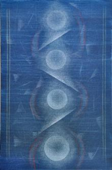 Abstract Mixed-media Art Painting title 'Upward Journey' by artist Hanumanth Devulapalli