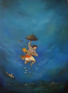 Lifeline | Painting by artist Durshit Bhaskar | oil | canvas