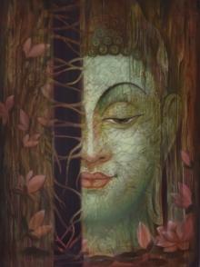 Religious Oil Art Painting title 'Nature is God' by artist Durshit Bhaskar