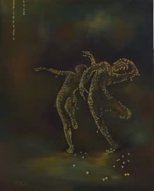 contemporary Oil Art Painting title 'Ghungroo' by artist Durshit Bhaskar