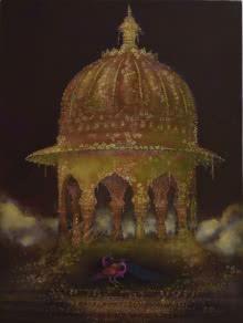 Royal Gardens | Painting by artist Durshit Bhaskar | oil | Canvas