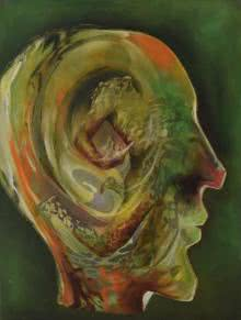 Surrealist Oil Art Painting title 'Dab100' by artist Durshit Bhaskar