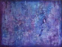Religious Mixed-media Art Painting title 'Radha and Krishna' by artist Durshit Bhaskar