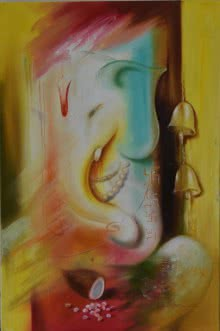 Ganesha Ganadhyakshina | Painting by artist Durshit Bhaskar | oil | Canvas