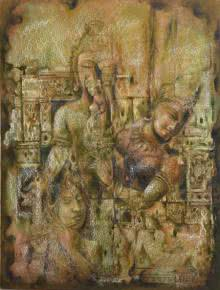 IDOLS | Painting by artist Durshit Bhaskar | oil | Canvas