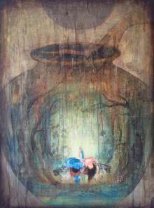 Radha and Krishna II   Painting by artist Durshit Bhaskar   mixed-media   Canvas