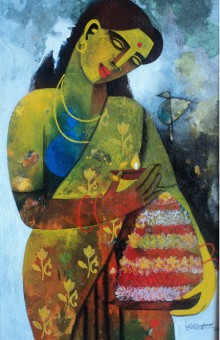 Bathukamma | Painting by artist Appam Raghavendra | acrylic | Canvas