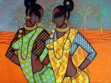 Varsha Kharatamal | Acrylic Painting title Rhythmic 15 on Canvas | Artist Varsha Kharatamal Gallery | ArtZolo.com