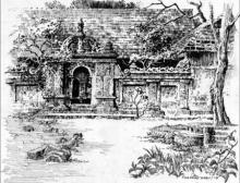 Scenic Pen Art Drawing title The Entrance by artist Sankara Babu