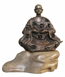 Bronze Sculpture titled 'Buddha With Nature 1' by artist Asurvedh Ved