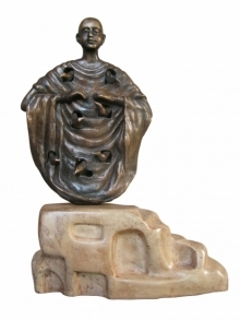 Asurvedh Ved | Buddha With Nature 3 Sculpture by artist Asurvedh Ved on Bronze | ArtZolo.com