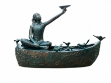 Joy Full Mood 2 | Sculpture by artist Asurvedh Ved | Bronze