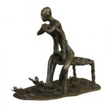 Asurvedh Ved | Joyful Mood I Sculpture by artist Asurvedh Ved on Bronze | ArtZolo.com