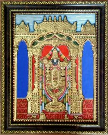 Balaji Tanjore Painting II | Painting by artist VANI VIJAY | other | Wood